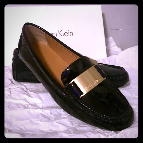 4308c644f1c NEW Calvin Klein Black Patent Lisette Loafer 7